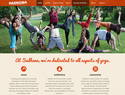 Website for yoga studio